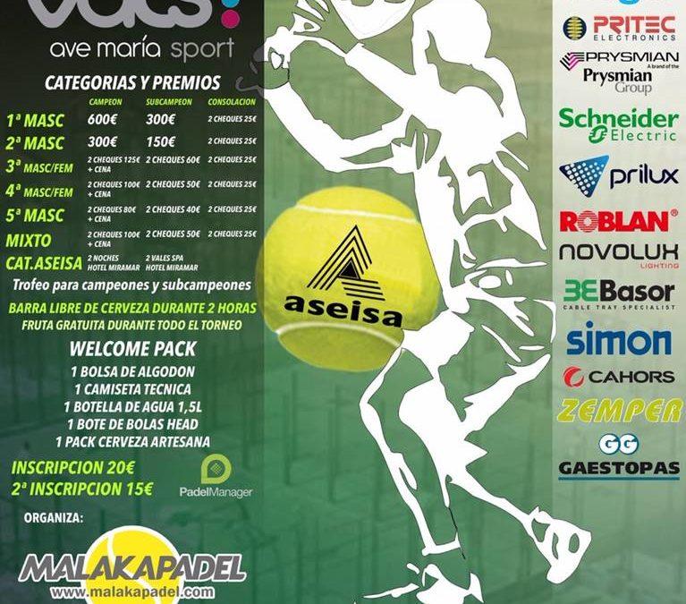 ¡Vente al torneo de pádel de ASEISA!