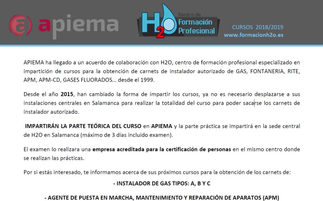 H2O – Curso Gas y APM