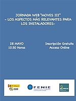 """JORNADA WEB FENIE: """"MOVES III"""" LOS ASPECTOS MÁS RELEVANTES PARA LOS INSTALADORES"""