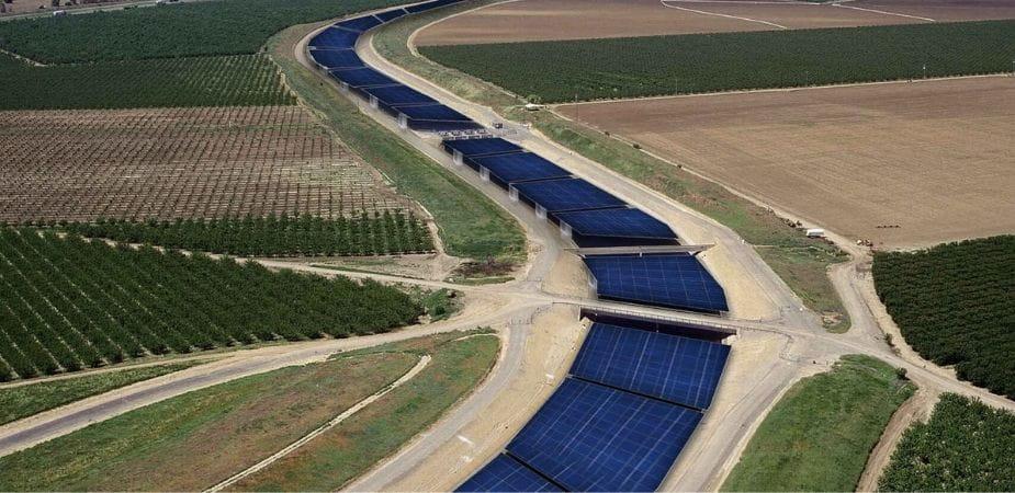 Ríos de paneles solares